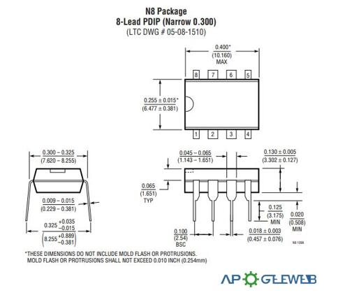 LT1469 Package Dimensions1