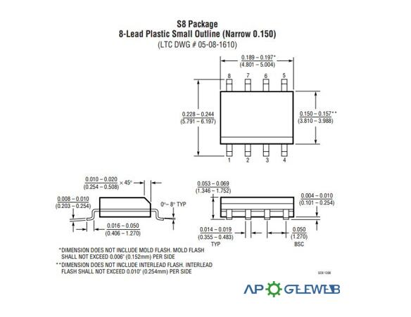 LT1469 Package Dimensions2